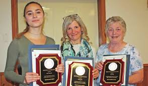 2018 Youth Achievement Award: Kiley Waterfield, Citizen of the Year: Sandra Watt and Lifetime Achievement Award: Joan Samu